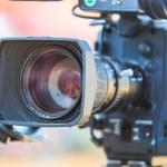 Camcorder Video camera lens — Stock Photo #56172051