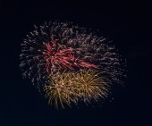 Beautiful colorful holiday fireworks — Stok fotoğraf