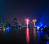 Happy New Year in Bangkok — Stock Photo