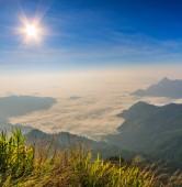 Sunrise at Phu chi fa — Stock Photo
