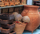 Wickers is made from bamboo — Stock Photo