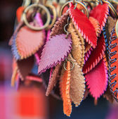 Leather keys chains — Foto Stock