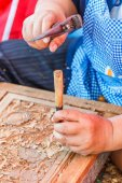 Carpenter at workshop — Stock Photo