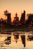 Parque de Sukhothai na Tailândia — Fotografia Stock