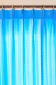 Blue Curtains background — Stock Photo