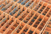Drain cap steel rusty background — Stock Photo