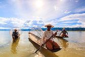 渔民捕鱼 — 图库照片
