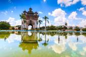 Patuxai literally meaning Victory Gate — Stockfoto