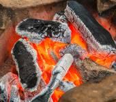 Brennende Kohle im Ofen — Stockfoto