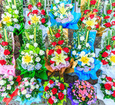 Flowers bouquets  for decoration — Stock Photo