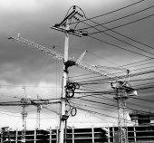 Construction site crane — Stock Photo