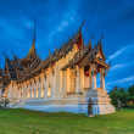 Sanphet Prasat Palace in Bangkok, — Stock Photo #67027809