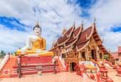 Buddha nel tempio di wat rajamontean — Foto Stock