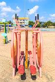 Public park - fitness equipment — Foto Stock
