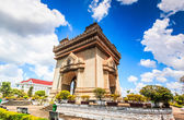 Patuxai literally meaning Victory Gate — Foto de Stock