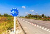Bicycle label lane — Foto de Stock