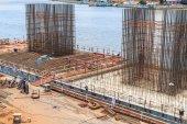 Metal construction site — Stock Photo