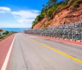 Coastal road mountain highway — Stock Photo