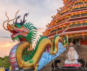 Chinese temple in Chiang Rai — Stock Photo