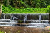 Small ditch with  weir — Stock Photo