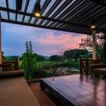 Beautiful modern terrace lounge — Stock Photo #69018505
