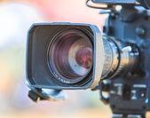 Camcorder  Video camera lens — Stok fotoğraf