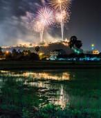 Beautiful fireworks in celebration — Stock Photo
