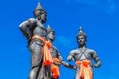 Three Kings Monument in Thailand — Stock Photo