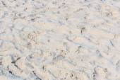 Footprints in  sand  beach — Stock Photo