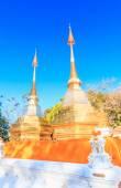 Two golden pagodas — Stock Photo