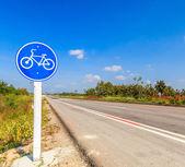 Bicycle label lane — Stock Photo