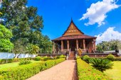 Haw Pha Kaeo in Vientiane  Laos — Stock Photo
