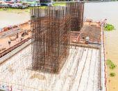 Construction site of bridge — ストック写真