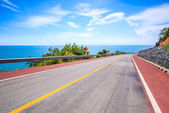 Perfect coastal road — Foto de Stock