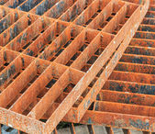 Cap steel rusty — Stock Photo