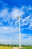 Huge wind turbines — Stock Photo