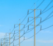 Kutup elektrik mesaj — Stok fotoğraf