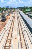 Railway station road — Stockfoto