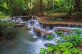 Waterfall in kanchanaburi of Thailand — Stock Photo