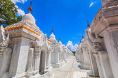Simgesel Yapı Kuthodaw Mandalay tapınakta — Stok fotoğraf