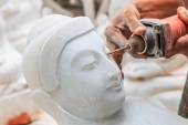 Marble statue Buddha — Stock Photo