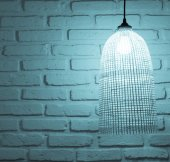 Wall with ceiling lamp — Stock Photo