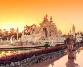 Wat Rong Khun Thai temple — Stock Photo