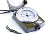 Military compass on a white background.  — Stock Photo