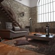 Large living room conversion with arched features — Stock Photo #71414579