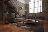 Large living room conversion with arched features — Stock Photo