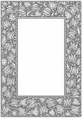 Retro bloem frame. Heraldische sieraad. Pagina's tamplate — Stockvector