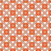 Seamless abstract geometric pattern. Traditional Ukrainian embroidery. Hipster background. Pixel art. — Vettoriale Stock