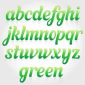 Eco green italic font — Stock Vector