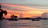 Pattaya, Thailand, Wongamat beach on sunset (koh larn view) — Foto de Stock